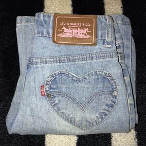 Levis Light Denim Jeans. Size 10 (girls) Waist: 27